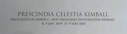 Prescindia Celestia Kimball