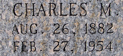 Charles Madison Cauley 1882 1954 Find A Grave Memorial