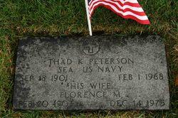 """Thaddius Karl """"Thad"""" Peterson"""