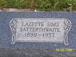 Lazette <I>Sims</I> Satterthwaite