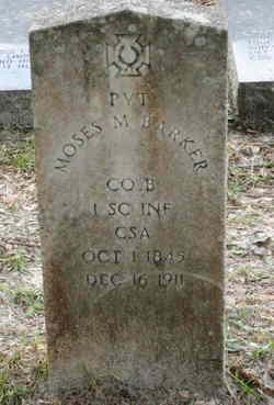 Pvt Moses M. Barker