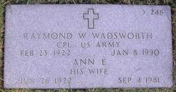 Raymond William Wadsworth