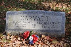 Lorraine <I>Leonard</I> Carvatt