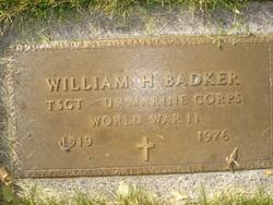 William Henry Badker