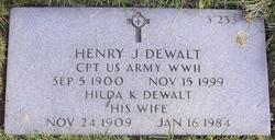 Henry J Dewalt