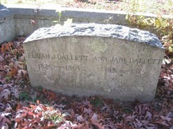 Ann Jane <I>Worthington</I> Dallett
