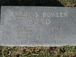 Francis Bowlen Bond