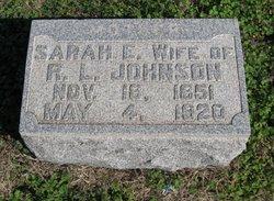 Sarah Elizabeth <I>Barber</I> Johnson