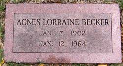 Agnes Lorraine <I>Fitzgerald</I> Becker