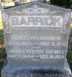 Sarah Elizabeth <I>Keefer</I> Barrick