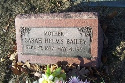 Sarah Elvira Victoria <I>Helms</I> Bailey