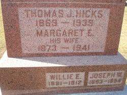 Margaret Ellen <I>Spencer</I> Hicks