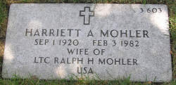 Harriett A Mohler