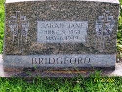 Sarah Jane <I>Redd</I> Bridgford