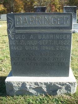 Susanna <I>Misenheimer</I> Barringer