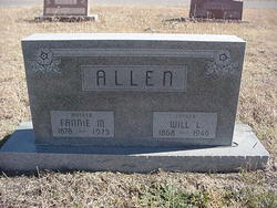 """Martha Frances """"Fannie"""" <I>Bowles</I> Allen"""