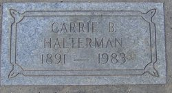 Carrie B <I>Cook</I> Halterman