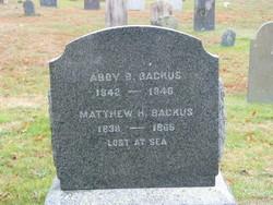 Matthew H Backus