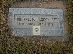 Ann <I>Preston</I> Longhurst