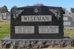 Bertha Alice <I>Billips</I> Wiseman
