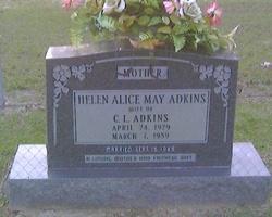 Helen Alice <I>May</I> Adkins