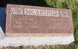 Sarah Ann <I>Ivie</I> McArthur