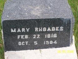 Mary <I>Vible</I> Rhoades