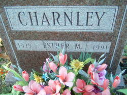 Esther May <I>Hamm</I> Charnley