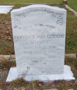 Eurydice May <I>Giddens</I> Bennett