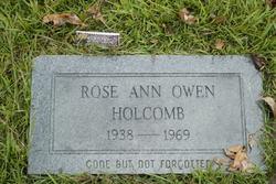 Rose Ann <I>Owen</I> Holcomb