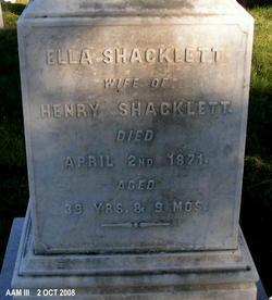 Ella <I>Glasscock</I> Shacklett