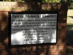 Taveau Memorial Cemetery
