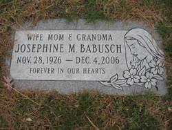 Josephine M. <I>Hamerla</I> Babusch