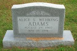 Alice S. <I>Wehking</I> Adams
