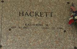 Katherine M Hackett