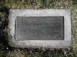 Dora <I>Sumsion</I> Davis