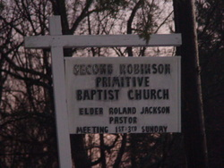Second Robinson Primitive Baptist Church Cemetery