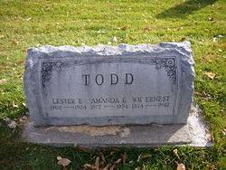 Amanda E Todd 1877 1934 Find A Grave Memorial