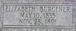 Elizabeth <I>Christian</I> Burgener