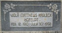 Viola McGowan <I>Matthews</I> Hofeldt