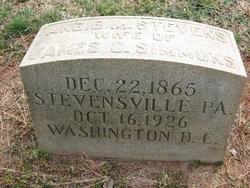 Angie M. <I>Stevens</I> Simmons