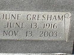 June Doris <I>Gresham</I> Goza
