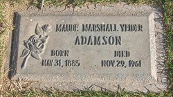 Maude Ann <I>Marshall</I> Yeiter-Adamson