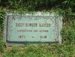 Emily Jane <I>Holley Hooker</I> Maples