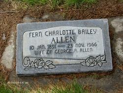 Fern Charlotte <I>Bailey</I> Allen