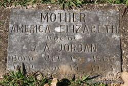America Elizabeth <I>Whittington</I> Jordan