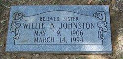 Willie B Johnston