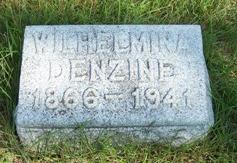 """Wilhelmina """"Minnie"""" <I>Rosenbaum</I> Denzine"""