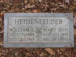 """Mary Ann """"Mayme"""" <I>Busselmann</I> Heidenfelder"""