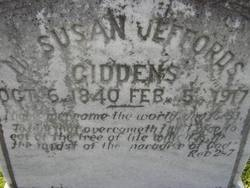 Susan Mary <I>Jeffords</I> Giddens